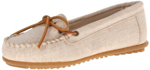 Minnetonka Canvas Moc 231 Damen Mokassins Beige (Natural)
