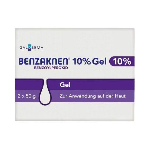 Akne Kämpfen Gel (Benzaknen 10% 2X50 g)