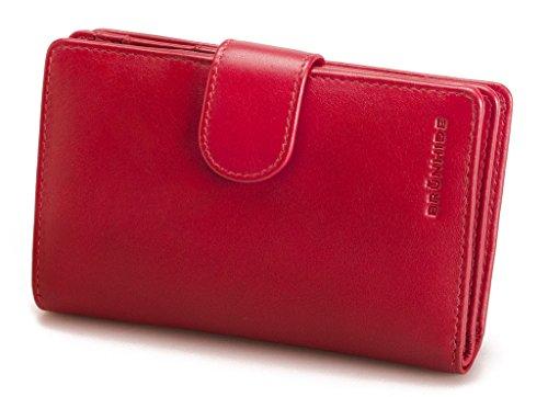 Brunhide - Borsa in vera pelle - disponibile in diversi colori # 207-300 - Bacca Rosso