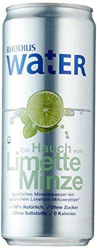 RHODIUS Water Ein Hauch von Limette Minze, 12er Pack, EINWEG (12 x 330 ml)