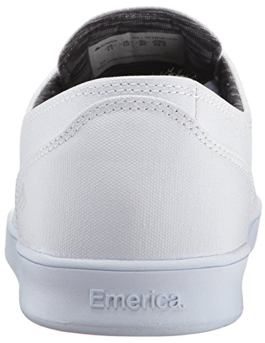 Emerica Laced By Leo Romero-M, Baskets mode homme Blanc/Blanc/Noir