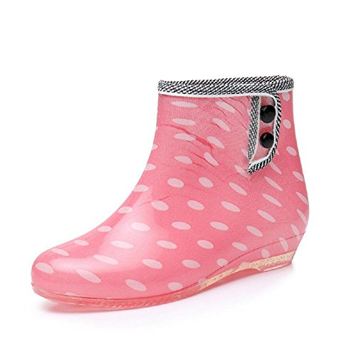 La signora slittamento adulti stivali da pioggia wave spot red