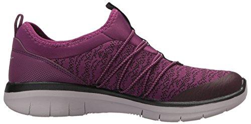 Skechers Damen Synergy 2.0-semplicemente Chic Slip On Sneaker Purple / Blk