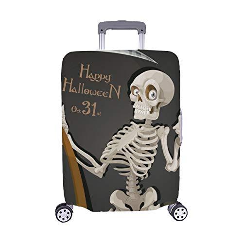 od Skelett Scythe Halloween Party Einladung Muster Staubschutz Trolley Protector case Reisegepäck Beschützer Koffer Abdeckung 28,5 X 20,5 Zoll ()