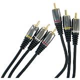 Thomson - KCV225G 131215 - Cable 3 RCA male /male (2audio+1video) - 2 m