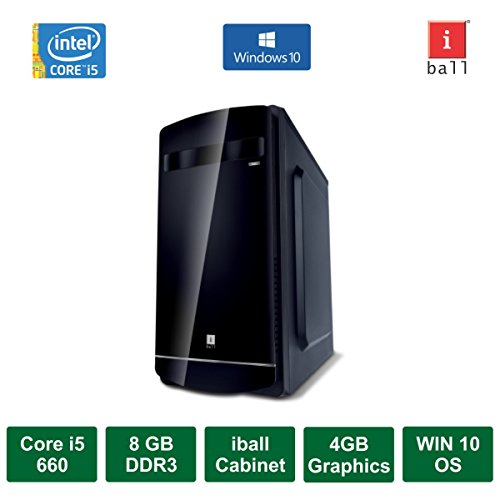 Desktop PC - Intel Core I5 660 Processor / 4GB Graphics / Windows 10 Pro / 500GB HDD / DVD / WiFi
