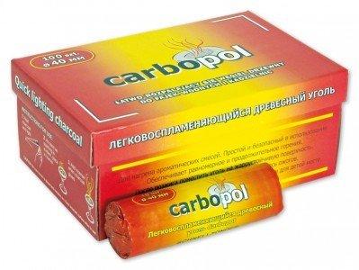 Carbopol Kohle - 40 mm - Rolle (10 Stück) - selbstzündend