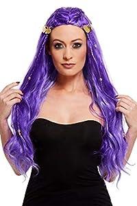 Smiffys 61118 Fortune Teller - Peluca para mujer, color morado