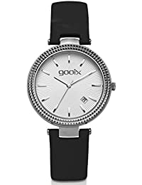 gooix DUA-05873 correa de acero inoxidable reloj de pulsera reloj 50 M FECHA negro