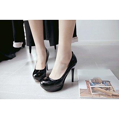 Sandali estate Club scarpe in microfibra casuale tacco a spillo delle donne Blushing Rosa Beige Nero Bianco US6 / EU36 / UK4 / CN36