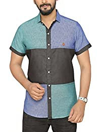 PP Shirts Men Multicoulured Shirt With Color Block Pattern
