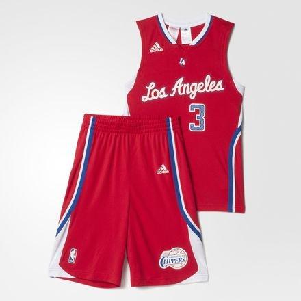 adidas Kinder Los Angeles Clippers Minikit NBA Babykits & Minikits, rot/weiß, 128