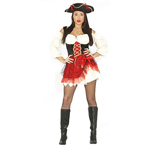 Sexy Piratin Kostüm für Damen Piratenkostüm Gr. M - L, ()