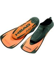 Cabeza energía hoja corta aletas naranja–natación aletas para nadar entrenamiento [UK 4/5–36Europea/37]