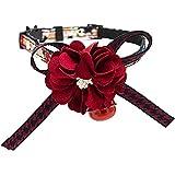 0Miaxudh Collar del Animal doméstico, Campana Encantadora de la Flor del Bowknot, decoración Ajustable