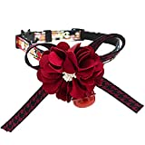 Kalaokei PET Dog Cat Adjustable Fashion Lovely Bowknot Flower Bell Neck Collar Decor