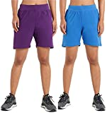 Athlete Women's Solid Cotton Stretch Shorts