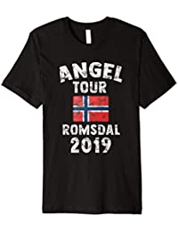 ROMSDAL 2019 - Angel Tour nach Norwegen mit Flagge T-Shirt