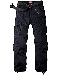 MUST WAY Men's Cargo Regular Trouser Army Combat Work Trouser Workwear Pants with 8 Pocket