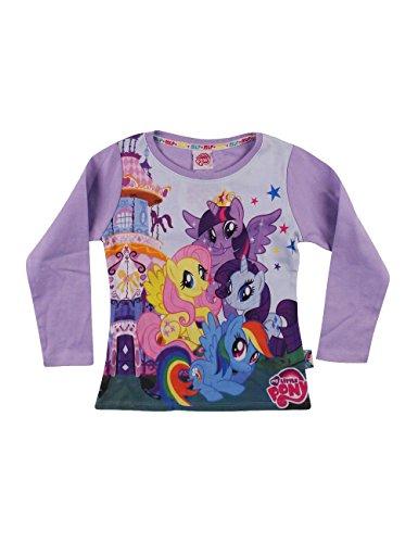 Hasbro my little pony my little pony-friendship-t-shirt manica lunga-originale, maglietta bambina, lilla, 5