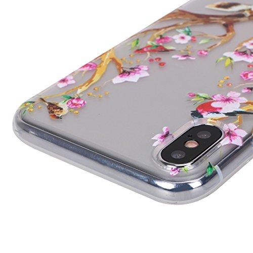 iPhone X Hülle, Asnlove Case Silikon TPU Schale Transparent Durchsichtig [Ultra Dünn] Klar Weiche Bumper-Style Handyhülle Premium Schutzhülle für iPhone X / iPhone 10 5.8 Zoll 2017 Case Cover - Crysta Style-11