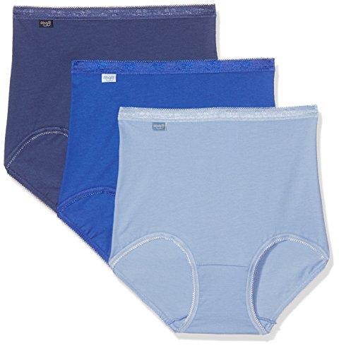 Sloggi 10103326, Mutande Donna, (pacco da 4) Blu (Bleu Gris/Bleu Marine/Bleu Clair)