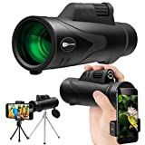 Monocular Telescope for Adults, JUZIHAO 12X50 HD with Cell Phone Adapter Monocular Waterproof-Shockproof-Fog-proof