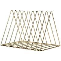 Kentop revistas Plana Archivo Escritorio Metal Tres triángulos Estante Desktop Memoria Estante Estante Soporte para revistas con 9Rejilla