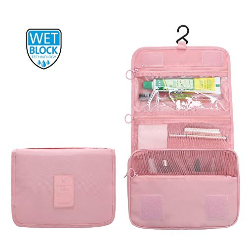 ElifeAcc Trousse De Toilette Pliable Portable 7 Litres Rose