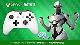 Manette Xbox One Blanche sans fil + Tenue EON sur Fortnite Battle Royale + 500 V-Bucks (B07PVT21MD) | Amazon price tracker / tracking, Amazon price history charts, Amazon price watches, Amazon price drop alerts