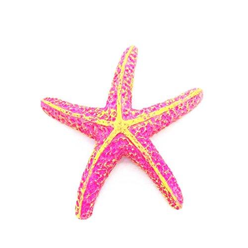 (WANGLAI Aquarium Starfish-Cute No-Toxic Kunstharz Miniatur Seestern Ornaments Landschaft Aquarium Dekorationen, Kunstharz, Rose, 9x8x2cm)