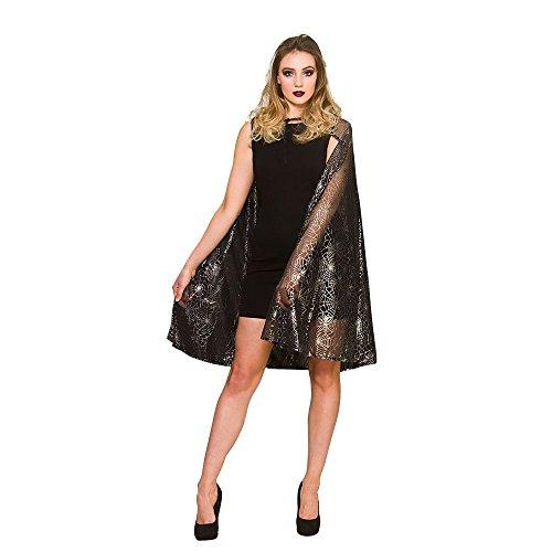 (Schimmernde Spinne Web Hexe Cape Halloween Fancy Dress Zubehör - One Size)