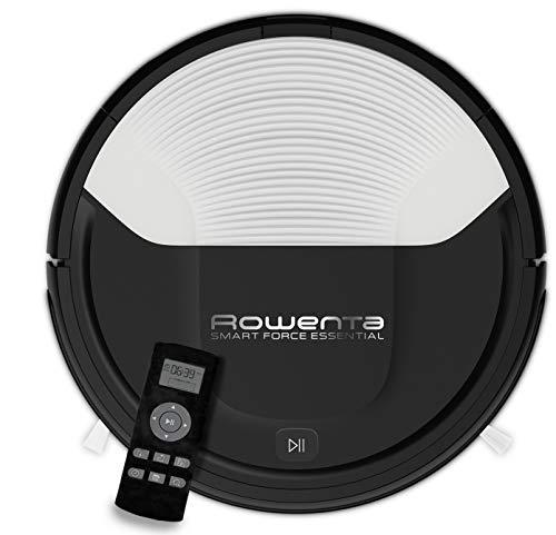 Rowenta RR6927WH  Smart Force - Robot aspirador, con sensores anticaída y bateria de ión-litio, 150 minutos de autonomía apto para todo tipo de suelos, fácil limpieza y vaciado, interfaz intuitiva