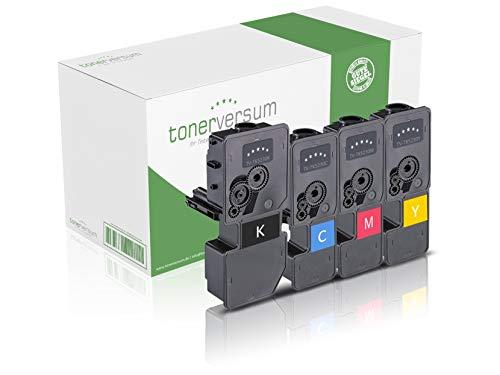 4 XXL Toner kompatibel zu Kyocera TK-5230 Schwarz Cyan Magenta Gelb Druckerpatronen für Ecosys M5521cdn M5521cdw P5021cdn P5021cdw Laserdrucker Multipack -