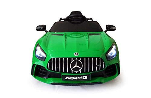 Mercedes GT-R AMG ( Verde ) Nuova Versione Macchina Elettrica per Bambini 12 Volt Batteria con Telecomando 2.4 GHz Porte Apribili con MP3