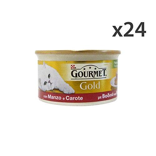 Set 24 GOURMET Gold patè manzo/carote 85 gr. - La comida para gatos