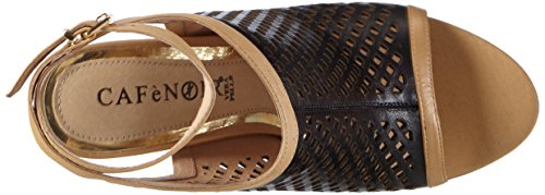 CAFèNOIR MA Damen Offene Sandalen mit Blockabsatz Schwarz (010  NERO)