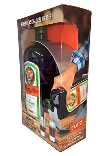 Jägermeister 1,75L regalo set con bottiglia in acciaio inox a dondolo