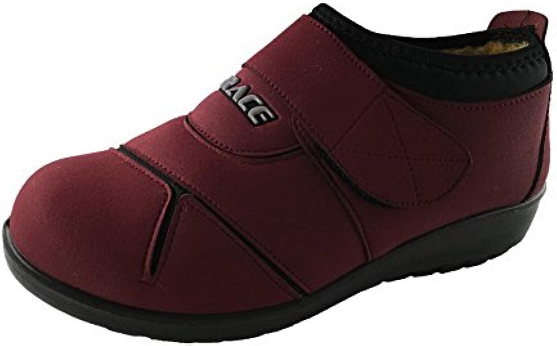 AalarDom Mujeres Slip-On Lana Puntera Redonda Tacón Bajo Zapatos de Tacón