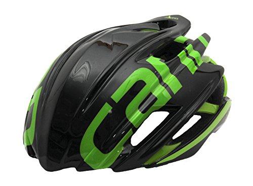 Cannondale Cypher Aero Rennrad Fahrrad Helm schwarz/grün 2017: Größe: L/XL (58-62cm)