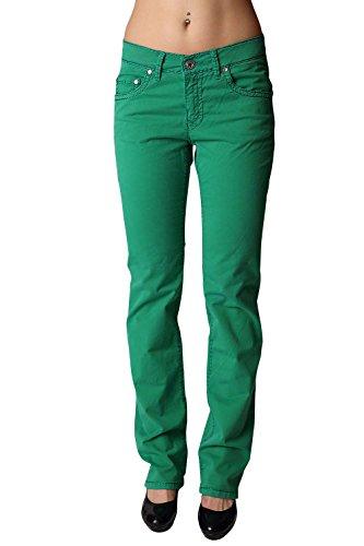 0 Damen Stretch-Sommerhose Sally grün: Weite: D-40   Länge: L30 ()