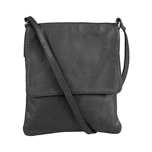 OBC Made in Italy Sac En Cuir Sac À Bandoulière Sac avec motif de bijoux CrossOver sac en cuir Cuir nappa Vera Pelle iPad Mini Tablette 7''