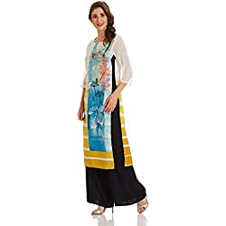 W for Woman Straight Kurta (17FE16494-58555_16_WHITE)