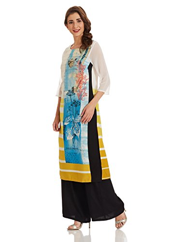 W for Woman Straight Kurta (17FE16494-58555_14_WHITE)  available at amazon for Rs.649