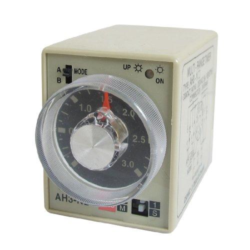 Preisvergleich Produktbild sourcingmap® WECHSELSTROM 220V 0-3 Zweite 0-30 Minuten Timer Schalten Sie Verzögert Zeitrelais 8-polig AH3-NB