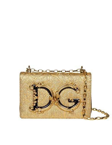 DOLCE E GABBANA Damen Bb6498aa2678d919 Gold Kunststoff Schultertasche