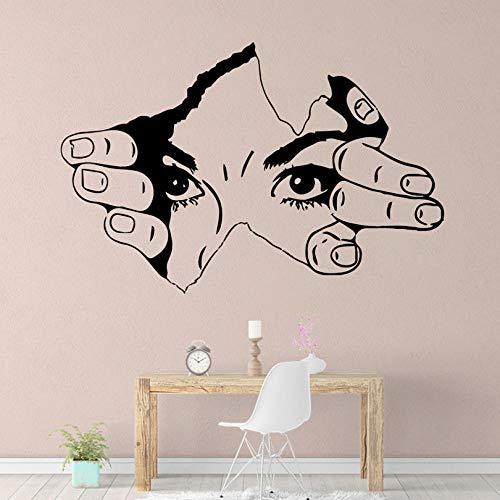 sybdnr Drop Shipping Girl hand Kunst Vinyl Wandaufkleber Für Wohnkultur Wohnzimmer Schlafzimmer Kunst Aufkleber 65x42 cm -