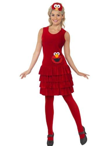 (Smiffy's - Elmo Dress - Sesame Street - Adult Kostüm)