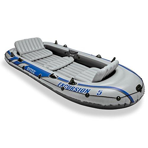 Schlauchboot mit 5 Plätzen, inkl. Aluminiumruder und Pumpe -