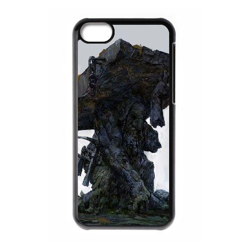 Df Statue Dwarf Fortress coque iPhone 5C Housse téléphone Noir de couverture de cas coque EBDXJKNBO09444